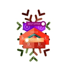 Christmas sale info banner vector