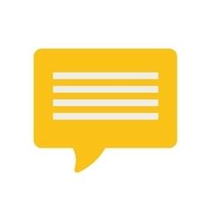 yellow bubble speech dialogue talk vector image