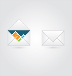 Open and close envelope with email vector