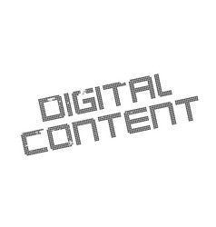 Digital content rubber stamp vector