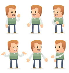 Set of neighbor character in different poses vector