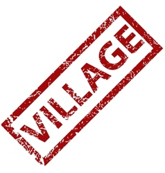 Village rubber stamp vector