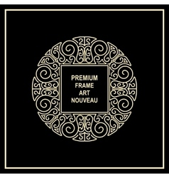 Premium art nouveau frame vector