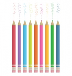 Colour sketching pencils vector