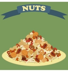 Nuts mix vector image
