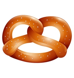 Pretzel with salt on top vector