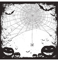 Halloween background bw vector
