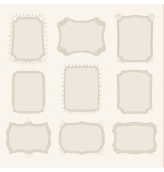 Collection of hand drawn doodle frames vector