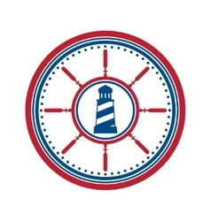 Lighthouse symbol on white vector image