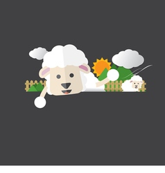 Cute sheep portrait vector