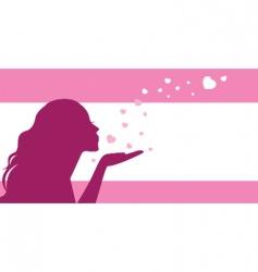 air kiss vector image vector image