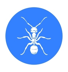 Ant icon in black style isolated on white vector