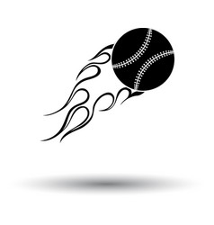 baseball fire ball icon vector image