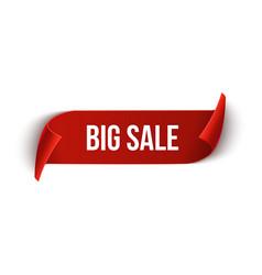 Big sale ribbon design template banner sale tag vector