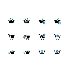 Checkout duotone icons on white background vector