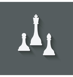 chess design element vector image