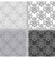Collection of ethnic seamless pattern vector image
