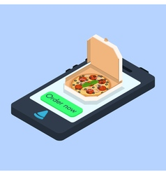 concept of online pizza order vector image vector image