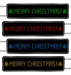 digital display with merry christmas text vector image