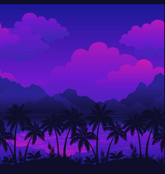 exotic seamless landscape vector image vector image