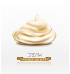 handful cream mayonnaise swirl vector image vector image