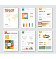 Infographic Brochures Set vector image
