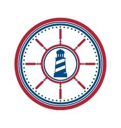 Lighthouse symbol on white vector image