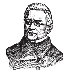 Louis adolphe thiers vintage vector