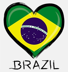 love Brazil flag vector image