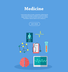 medicine web banner website template vector image vector image