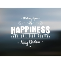 Merry Christmas lettering Wishes clipart vector image
