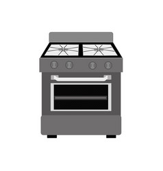 Monochrome silhouette of stove with oven vector