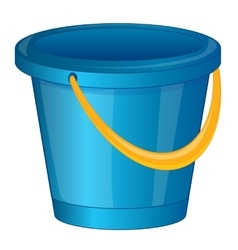 Pail from plastic arts vector image vector image