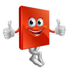 red book character vector image vector image