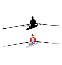 rower silhouette and vector image vector image