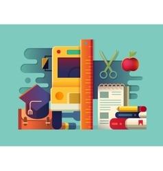 School concept item vector image vector image