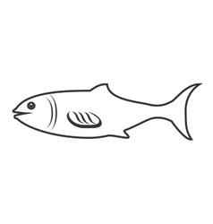 Seafood animal isolated flat icon vector image