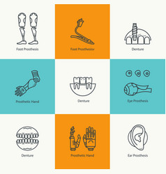 Set of denture icons vector