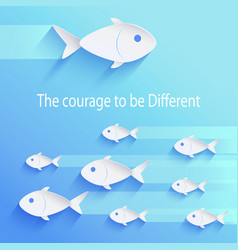 The courage to be different vector