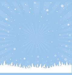 Winter cartoon poster vector