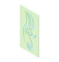 Interior door icon cartoon style vector image