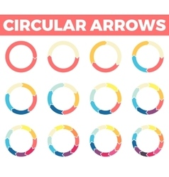 Thin circular arrows for infographics with 1 - 12 vector