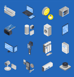 Iot internet of things isometric icon set vector