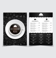cofee menu a4 2-03 vector image