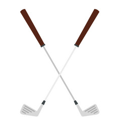 Crossed golf clubs icon isolated vector