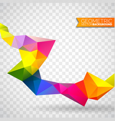 geometric triangles background vector image