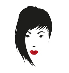 Fashion silhouette woman style vector image