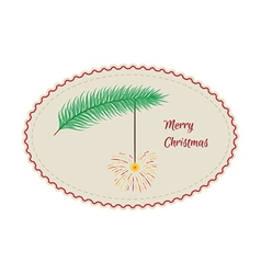 Retro merry christmas sign vector