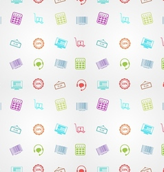 Colored background for online sales vector