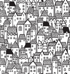 Town seamless background vector